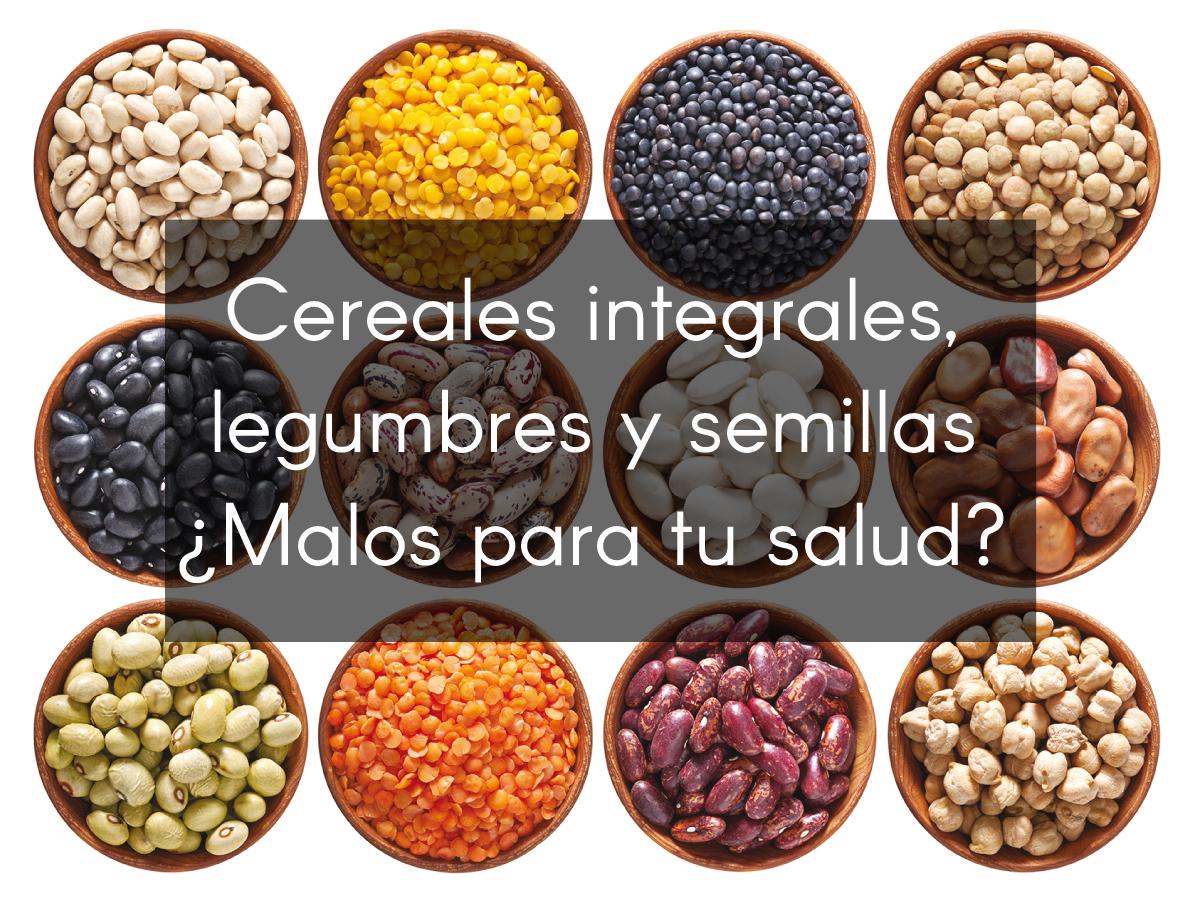 cereales integrales, legumbres y semillas